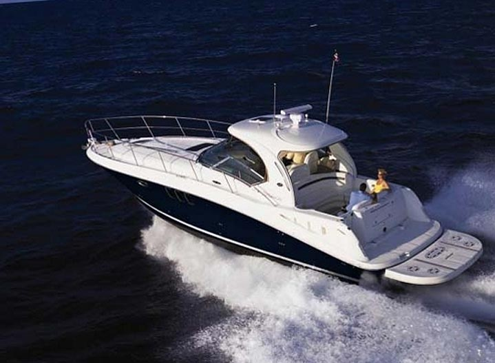 40ft Luxury Power Boat underway off the coast of Phuket